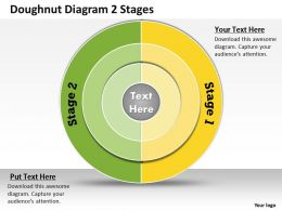 1013 Busines Ppt diagram Doughnut Diagram 2 Stages Powerpoint Template