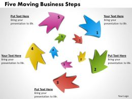 1013 Busines Ppt diagram Five Moving Business Steps Powerpoint Template