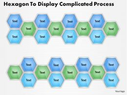1013 Busines Ppt diagram Hexagon To Display Complicated Process Powerpoint Template