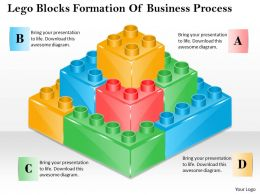 1013 Busines Ppt diagram Lego Blocks Formation Of Business Process Powerpoint Template