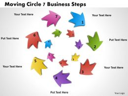 1013 Busines Ppt diagram Moving Circle 7 Business Steps Powerpoint Template