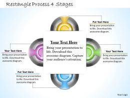 1013 Busines Ppt diagram Rectangle Process 4 Stages Powerpoint Template