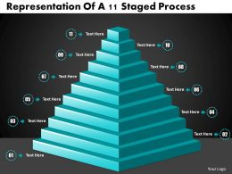 1013 Busines Ppt diagram Representation Of A 11 Staged Process Powerpoint Template