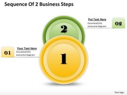 1013 Busines Ppt diagram Sequence Of 2 Business Steps Powerpoint Template