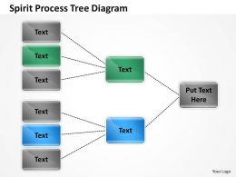 1013 Busines Ppt diagram Spirit Processes Tree Diagram Powerpoint Template