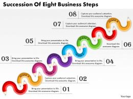 1013 Busines Ppt diagram Succession Of Eight Business Steps Powerpoint Template