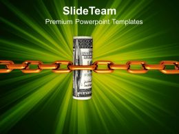 1013 Business Growth Strategy Dollar Chained PowerPoint Templates PPT Themes And Graphics
