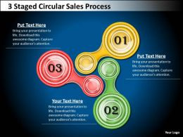 1013 Business Plan 3 Staged Circular Sales Process Powerpoint Templates PPT Backgrounds For Slides