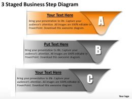 1013 Business Plan 3 Staged Step Diagram Powerpoint Templates PPT Backgrounds For Slides