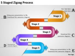 1013 Business Plan 5 Staged Zigzag Process Powerpoint Templates PPT Backgrounds For Slides