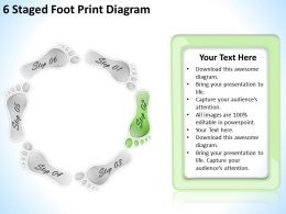 1013 Business Plan 6 Staged Foot Print Diagram Powerpoint Templates PPT Backgrounds For Slides