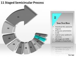 31129811 Style Circular Semi 11 Piece Powerpoint Presentation Diagram Infographic Slide