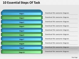 1013_business_ppt_diagram_10_essential_steps_of_task_powerpoint_template_Slide01