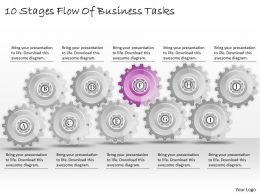1013 Business Ppt diagram 10 Stages Flow Of Business Tasks Powerpoint Template