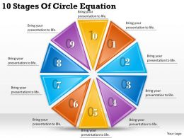 1013 Business Ppt diagram 10 Stages Of Circle Equation Powerpoint Template