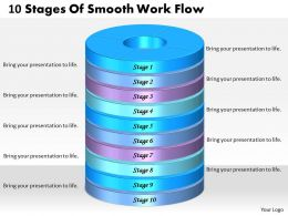 1013 Business Ppt diagram 10 Stages Of Smooth Work Flow Powerpoint Template