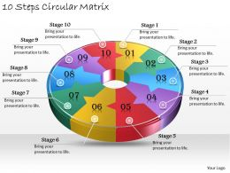 1013 Business Ppt diagram 10 Steps Circular Matrix Powerpoint Template