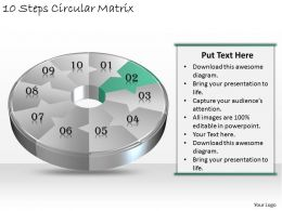 1013 Business Ppt diagram 10 Steps Circular Matrix Powerpoint Template