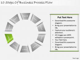 33773774 Style Circular Loop 10 Piece Powerpoint Presentation Diagram Infographic Slide