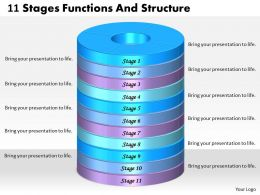 1013 Business Ppt diagram 11 Stages Functions And Structure Powerpoint Template