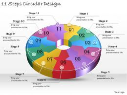 1013 Business Ppt diagram 11 Steps Circular Design Powerpoint Template