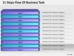 1013_business_ppt_diagram_11_steps_flow_of_business_task_powerpoint_template_Slide01