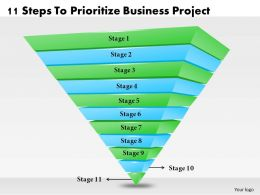 1013 Business Ppt diagram 11 Steps To Prioritize Business Project Powerpoint Template