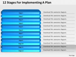 1013_business_ppt_diagram_12_stages_for_implementing_a_plan_powerpoint_template_Slide01