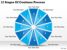 1013 Business Ppt diagram 12 Stages Of Continue Process Powerpoint Template