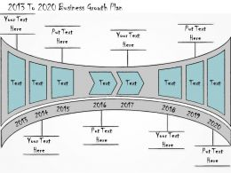 1013 Business Ppt Diagram 2013 To 2020 Business Growth Plan Powerpoint Template