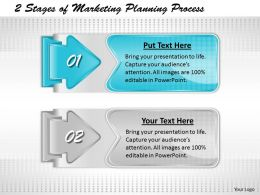 1013 Business Ppt diagram 2 Stages of Marketing Planning Process Powerpoint Template