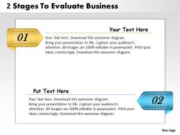 1013 Business Ppt diagram 2 Stages To Evaluate Business Powerpoint Template