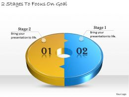 1013 Business Ppt diagram 2 Stages To Focus On Goal Powerpoint Template