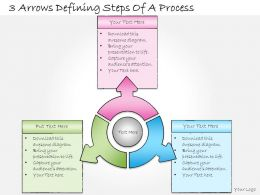 1013 Business Ppt Diagram 3 Arrows Defining Steps Of A Process Powerpoint Template
