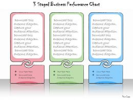 1013 Business Ppt Diagram 3 Staged Business Performance Chart Powerpoint Template