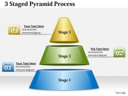 1013 Business Ppt diagram 3 Staged Pyramid Process Powerpoint Template