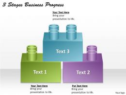 1013 Business Ppt diagram 3 Stages Business Progress Powerpoint Template