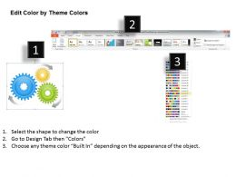 1013 Business Ppt diagram 3 Stages Flow Of Gears Process Powerpoint Template