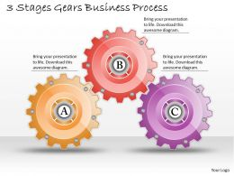 1013 Business Ppt diagram 3 Stages Gears Business Process Powerpoint Template
