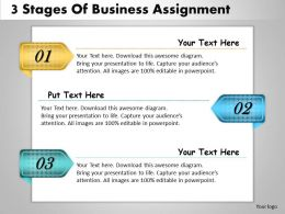 1013 Business Ppt diagram 3 Stages Of Business Assignment Powerpoint Template