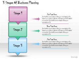 1013 Business Ppt Diagram 3 Stages Of Business Planning Powerpoint Template
