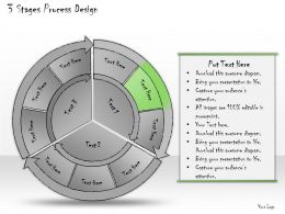1013 Business Ppt Diagram 3 Stages Process Design Powerpoint Template