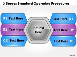 1013 Business Ppt diagram 3 Stages Standard Operating Procedures Powerpoint Template