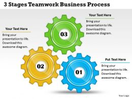 1013 Business Ppt diagram 3 Stages Teamwork Business Process Powerpoint Template