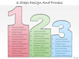 1013 Business Ppt Diagram 3 Steps Design And Process Powerpoint Template