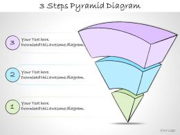 1013 Business Ppt Diagram 3 Steps Pyramid Diagram Powerpoint Template