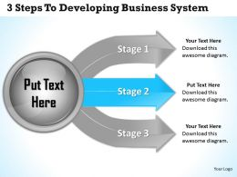 1013 Business Ppt diagram 3 Steps To Developing Business Systems Powerpoint Template