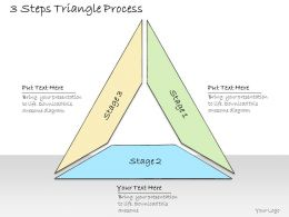 1013 Business Ppt Diagram 3 Steps Triangle Process Powerpoint Template