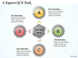 1013 Business Ppt diagram 4 Aspects Of A Task Powerpoint Template