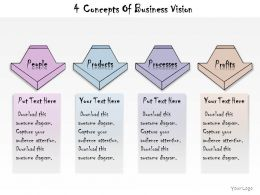 1013 Business Ppt Diagram 4 Concepts Of Business Vision Powerpoint Template